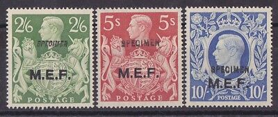 "BRITISH OCCUP OF ITALIAN COLS 1943 ""M.E.F."" on KGVI 2/6 TO 10/- SPECIMEN MNH **"