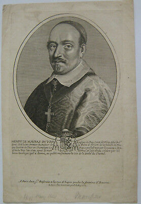RARE FRENCH 17thC. ORIGINAL OLD MASTER PORTRAIT BY PIERRE DARET