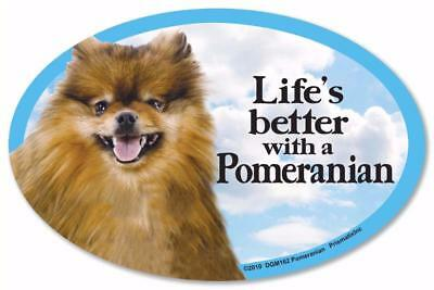 Life's Better With A Pomeranian Dog Car Fridge Plastic Magnet
