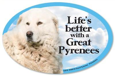 Life's Better With A Great Pyrenees Dog Car Fridge Plastic Magnet