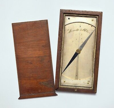 Wonderful Unusual Antique Early French Lenoir Of Paris Cased Compass