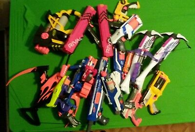 Huge Nerf Gun Lot Of 18 Guns Elite Strike Rampage 2 Rivals