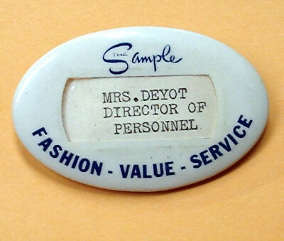 The Sample Shop - Buffalo, Ny - Employee Badge - Vintage