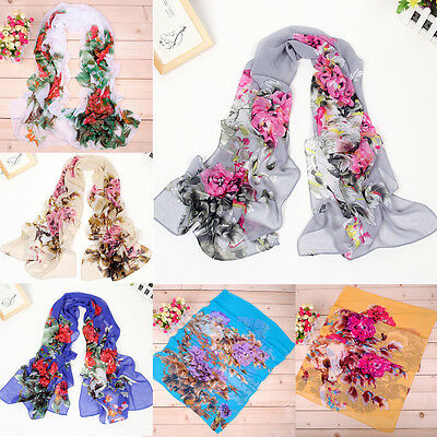 Hot  Stylish Women Long Soft Silk Chiffon Scarf Wrap Shawl Scarves