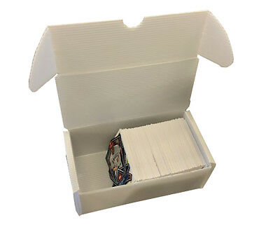 Lot of 10 New Max 400 Count Plastic Baseball / Trading Card Storage Boxes White