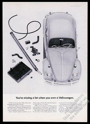 1965 VW Volkswagen Beetle classic car photo You're Missing A Lot 11x8 print ad