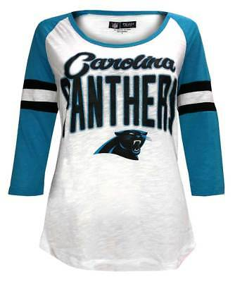 outlet store 3e45f 9ea26 New Era Women s NFL Carolina Panthers Scoop Neck T-Shirt 3 4 Sleeve Tee
