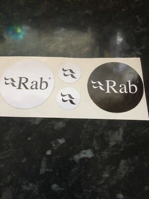 Rab Stickers/decals Circular Black And White