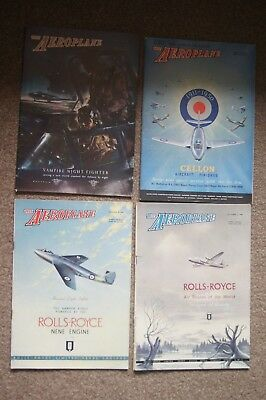 Job Lot 4 The AEROPLANE Aeronautical Engineering Magazines 1948 1950 Photographs