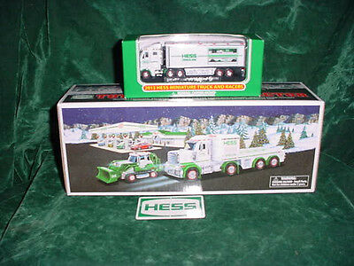 Two 2013 Trucks Toys Truck  And Tractor  &  2013 Xmas  Minature Truck & Racers