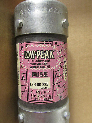 Low Peak Dual Element Time Delay 225 amp 250 volt fuse Catalog # LPN-RK225