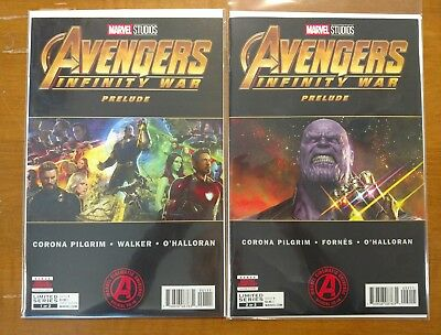 Avengers Infinity War Prelude #1 2 Main Cover First Print Marvel Comics
