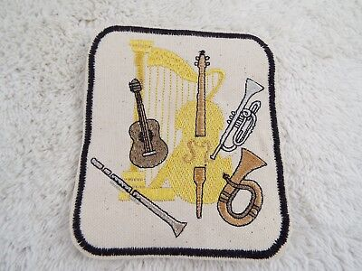 """Musical Instruments 4-3/8"""" Embroidery Iron-on Patch (E5)"""