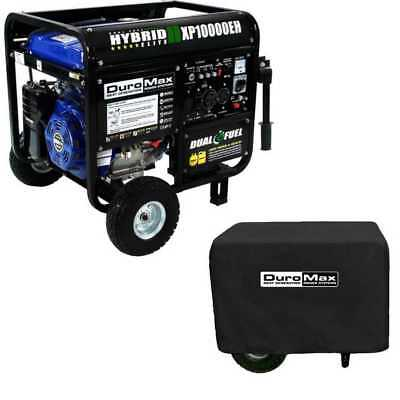 DuroMax XP10000EH 10000 Watt 18 HP Dual Fuel Gas Generator with Dust Guard Cover
