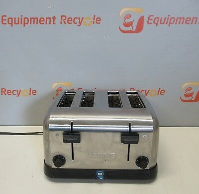 Waring Commercial Double Toaster 4 Slice Stainless Steel Heavy Duty