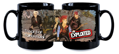 THE EXPLOITED BLK MUG, LIMITED RARE NEW- BOXED troops of tomorrow