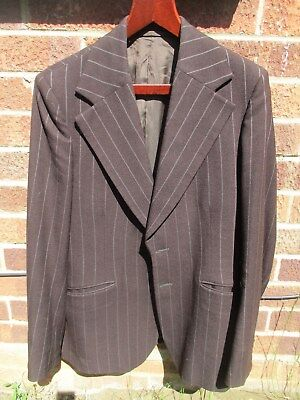 "1970's chocolate brown SUIT..FLARED..38"" x 32""..70's DISCO.. 70's FLARES"