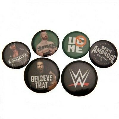 WWE Six Button Badges Set RD with Free UK P&P