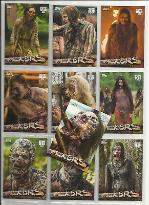 2017 The Walking Dead: Season 7 COMPLETE SET of 10 WALKERS Chase Cards (W1-W10)
