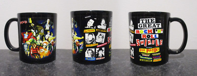 SEX PISTOLS  BLK MUG, LIMITED RARE NEW- BOXED great rock n roll swindle