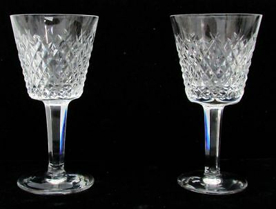 "Pair Of Waterford Crystal Alana 5 3/4"" Claret Wine Glass"