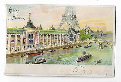 Old Trade Card Dow & Snell Golden Sheaf Coffee Baking Powder Paris Exposition