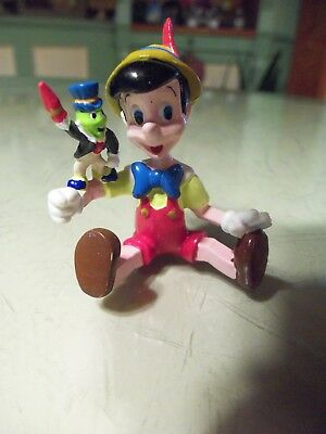 Small Pinocchio Figure Sitting Down with Jiminy Cricket Applause