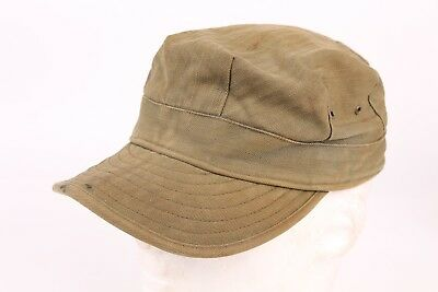 Vtg Od Hbt Us Military Short Bill Field Cap Hat Mens Size 6 7/8