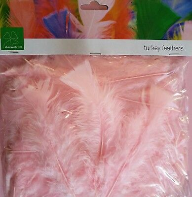 10 grams Craft Feathers - Light Pink Turkey - Scrapbooking Craft Kids Craft