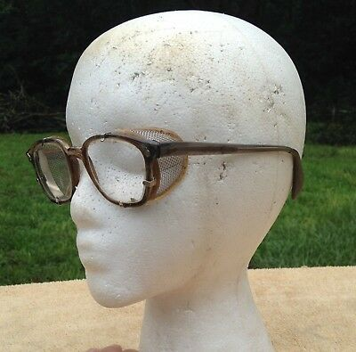 Old Vintage American Optical Safety Glasses Goggles Motorcycle Panhead Triumph