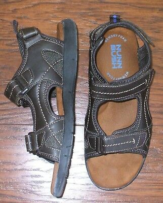 c92e9b15f367 Men s Sz 11W NUNN BUSH Rio Grande River SandalsThree-Strap Brown   84746-200