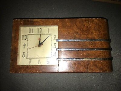 Herman Miller Clock, Art Deco, Burled Walnut, Gilbert Rohde, Worlds Fair
