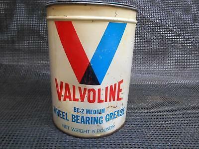 Old Vtg VALVOLINE OIL Company GREASE CAN Ashland Refining METAL TIN Advertising