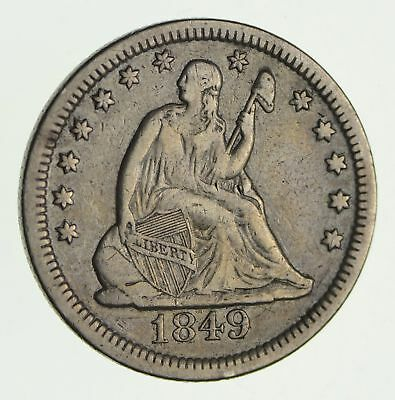 1879 Seated Liberty Quarter - Circulated *2418