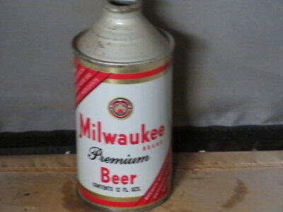Milwaukee Premium Beer. Colorful Solid. Cone Top