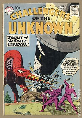Challengers of the Unknown (DC 1st Series) #17 1961 GD+ 2.5