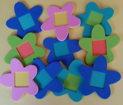 10 Foam Photo Frames Flowers Ready To Decorate Kids Art Craft
