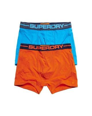 Superdry Men's Blue & Orange Two-Pack Sports Boxer Shorts