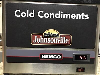 New Nemco 9020-3 Countertop Cold Condiment Chiller with (3) 1/9 S/S Pans