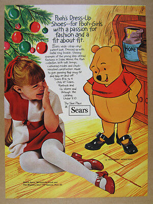 1970 Sears Winnie-the-Pooh Girl's Dress-Up Shoes vintage print Ad