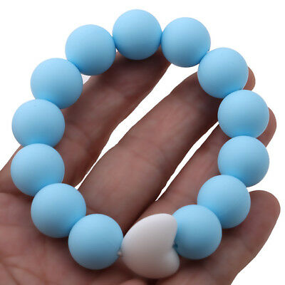 Baby Teething Ring Teether Infant Silicone Training Tooth Toddler Chew Toys BS
