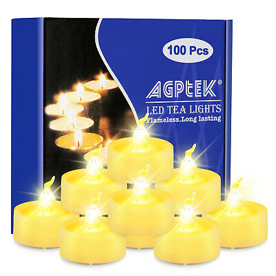 Flameless Tealights Long Lasting Picclick Exclusive 100pcs Led Battery Operated Flickering Tealight Candle For Wedding