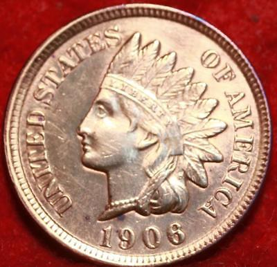 Uncirculated 1906 Red Philadelphia Mint  Indian Head Cent