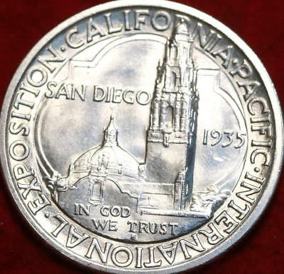 Uncirculated 1935-S San Francisco Mint San Diego  Silver Comm Half