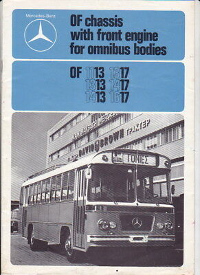 1976 MERCEDES BENZ OF 13 & 17 SERIES CHASSIS for BUS BODIES Brochure in English