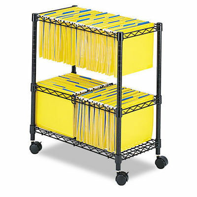 Two Tier Metal Rolling Mobile File Cart for Letter/Legal Size Office Supplies