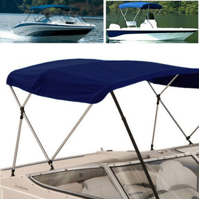 "3Bow Bimini Canopy Boat Top Cover 6ft Long 61""- 66"" Width Support Poles US STOCK"
