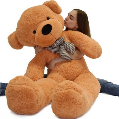 "Big Giant Teddy Bear Stuffed Plush Animal Toy 63"" Great Valentine Birthdays Gift"