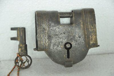 Old Iron Handcrafted Unique Shape Fine Quality Solid Heavy Padlock
