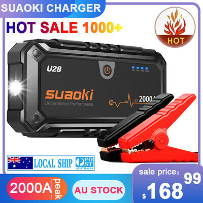 Suaoki U28 2000A Peak Jump Starter Pack with USB Power Bank, LED Flashlight